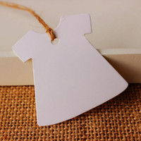 Wholesale Creative Dress Design White Blank DIY Hang tag Retro White Gift tag Paper Label Cards