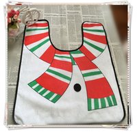 Cheap Wholesale-Hot sale New 100% Cotton christmas products supplies decorations items Santa claus Toilet Seat Cover Bathroom Set for home
