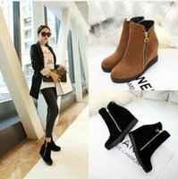 Wholesale 2015 women boots high quality slipsole ankle boots pure color female winter boots XY365