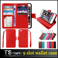 apple credit cards - For iphone plus Wallet Case PU leather cases photo frame slot credit card pocket handbag for iphone s plus samsung s7 edge note