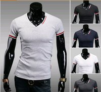 Wholesale 2016 new tees men tops tees t shirts new men clothing short sleeve shirts cotton men clothes men clothing tees t shirts garments costume