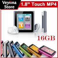 Wholesale 16GB th Mp4 Player MINI MP4 MP5 Music Player gb G Touch Screen MP4 FM Radio E Book Voice Recorder Game