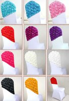 Wholesale Elegant Rose Flower Chair Cover Cap Chair Sash Sashes For Wedding Decoration Cap cover Chair Wedding