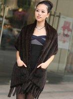 knitting fur scarf - Knit mink fur shawl scarf fringed scarf thick warm mink mink collar