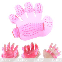 Wholesale Puppy Pet Bath Brush Grooming Massage Removal Glove Hair Dog Cat Comb Hand Shape