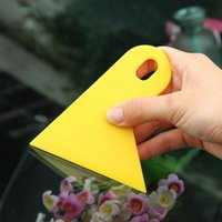 Wholesale Bubble Window Scraper Carbon Fiber Vinyl film Wrapping Tools Wrapping Film Application Squeegee Scraper Tool Car Styling Sticker