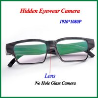 Cheap 2014 Newest HD 1080P Spy Glass Camera Super Mini DVR Slim Glasses HD Camera Eyewear Spy Sunglasses Cameras Hidden Camera No Hole
