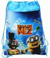 Wholesale hot sale Despicable Me Drawstring Bags Mochila Infantil Minions School Bags Backpack Children s Shopping Bags Gift for Kids