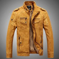 Wholesale Fall Man Lether Jackets Pu Leather Jaqueta Masculinas Inverno Couro Jacket Men Jaquetas De Couro Men s Winter Leather Jacket