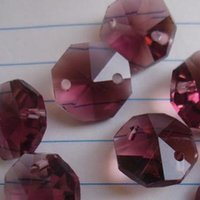 amethyst crystal lamps - 2000pcs amethyst mm crystal glass beads in holes for wedding chandelier lamp or suncotchers