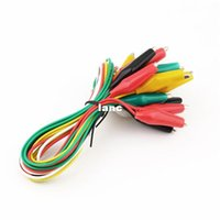 Wholesale Fashion Hot Leads Alligator Crocodile Double ended Test Roach Clip Jumper Wire Newest