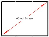Wholesale inch projection screen Portable Front soft matte white fabric screen without frame can be fold