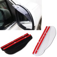 Wholesale 2 Universal Flexible PVC Car Rearview Mirror Rain Shade Rainproof Blades car back mirror eyebrow rain cover waterproof