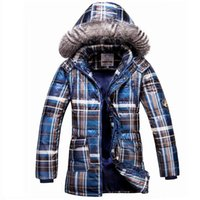 Wholesale Plus Size New Children s Boys Casual Thicken Long Winter Snow Warm Down Jacket Coat For Boy Winter Plaid