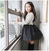 baby garments design - Girls Dresses Princess Party Wear Long Sleeve Dots Gauze Dress Lovely Baby Kids Clothing Color Children Garments Gorgeous New Design