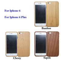 Wholesale Handmade Artisan Natural Genuine Eco Bamboo Walnut Hard Wood Case for iPhone Plus s s case with retail package