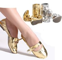 ballet flat shoes price - Gold silver color ballet dance shoes professional belly dance shoes high quality with cheap price for women flat dancing shoes