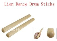 Wholesale Pair Chinese Lion Dance Wood Drumsticks cm Long Musical Instrument