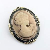 Wholesale New Hot Selling Beauty head Vintage Brooch Retro Cameo Individuality Pin Brooch Collar pin Retro Corsage Pin Y009