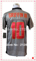 Wholesale Factory Outlet new style Robert Griffin III Men jersey grey color size S XL