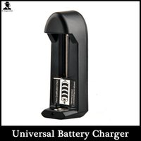 Wholesale Electronic Cigarette Universal Battery Charger Rechargeable Dry Battery Charger for Ecigarette Li ion battery