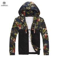 Wholesale Men Floral Jacket Plus Size XL Jaqueta Military Men Windbreaker Jackets And Coats Sportswear Men s Raincoat Winter Outdoor