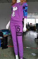 Cheap sports suit for women casual letter printing suit sweatshirt pants suit sweatshirt + pants women sport set