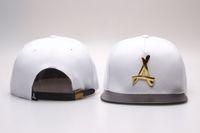 Wholesale 2016 hot Brand New Adjustable Bone tha Alumni Snapback Caps Gold A Hip Hop Sport Hats Baseball Snap back Caps
