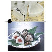 Wholesale 2x Form Sushi Mold Onigiri Rice Ball Bento Press Maker Mold DIY Tool