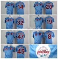 Wholesale 2016 New Philadelphia Phillies Mike Schmidt Pete Rose Steve Carlton M N Throwback Retro Baseball Cool Base Stitched Jerseys