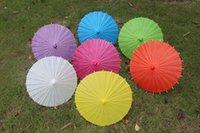 handmade craft - Colors Craft Umbrellas Paper Parasols Children DIY Painting Umbrellas Handmade Inches Plain Color Decorative Umbrellas