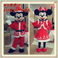 2015 nueva promoción de la mascota del traje barato, de dibujos animados de Mickey Minnie mouse adultos mascota de traje de la mascota de disfraces de Navidad del partido de los vestidos de Navidad