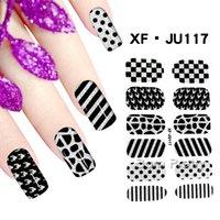 art grid - 1 Sheet Stripe Grid Nail Wraps Full Nail Art Sticker BORN PRETTY XF JU117