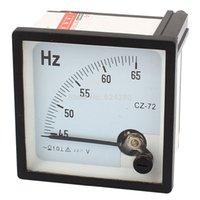 Измеритель частоты аналоговой панели Отзывы-Оптово-AC 220V Аналог панели Frequency метр тестер Gauge Герц Индикатор 45-65 Гц - 72 * 72мм