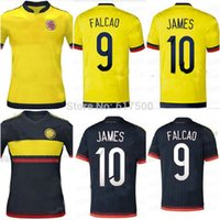 colombia - 15 Colombia home yellow away soccer football jersey JAMES RAMOS FALCAO best Thai quality soccer uniforms shirt