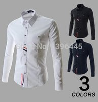 Wholesale Hot Sale New Fashion new Slim Fit casual Dress shirt Men Long Sleeve Big size Oxford Man s Clothes