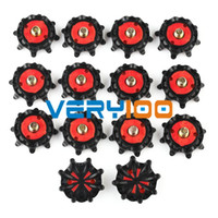 Wholesale 14pcs Replacement Golf Shoes Spikes Cleat Metal Thread Screw Studs Black and Red order lt no track
