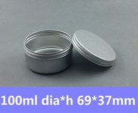 Cheap Free Shipping 100pcs lot 100ml Round Tin Container Vintage Tea Mint Tins Hinged Tin Box 100g Auminum Can Candle Tins