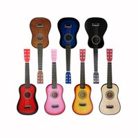 Wholesale 23 quot Guitar Mini Guitar Basswood Kids Musical Toy Acoustic Stringed Instrument with Plectrum st String I586