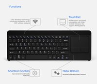 Wholesale 2 G Wireless Keyboard for iMac Android Windows Win8 OS device Internet TV Box MXQ M8S MXIII wireless keyboard with touchpad