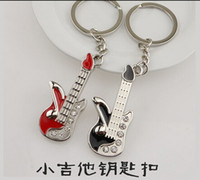bass guitar gifts - 120 Hot Retail Guitar Keychain Creative Design Guitar Bass Musical Instrument Key chain Gift Keyring Key Ring