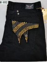 denim jeans - Robin Jeans Men EMBELLISHED JEANS Straight Denim Black Designer Men Pants Size