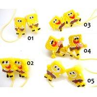 cute mp3 earphone - Cartoon Earphone Earbud Cute MM SpongeBob In Ear Headphone Headset Animation Products MP3 Earphone Design To Choose