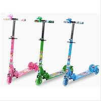 Wholesale 2014 New Lovely Outdoor Children Toys Wheel Adjustable Scooter Bicycle Practical Gift for Kids Green Blue Pink