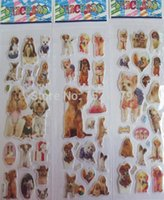 american window factory - 2015 cute dog book wall stickers children cartoon craft bubble Mobile phone window decorations factory price