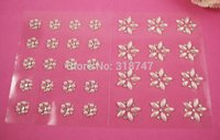 Wholesale 9 cm Mixed Size Single Design Diy Pearl Sticker Accessories sheet pack