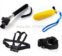 Wholesale GoPro Accessories Monopod Tripod Mount Floating Bobber Adjustable Chest Body Belt Head Strap For Gopro Hero SJ4000 Camera