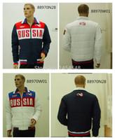 Wholesale Fall russian winter bosco sochi games souvenir men jackets XL waterproof hooded warm cotton sports jackets Outerwear men coat