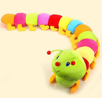 caterpillars - Cute Caterpillar Colorling Stuffed Animals Plush Toys Children Baby Boys Girls Birthday Gifts Animal Stuff Plus Toy Plushed Dolls D3620