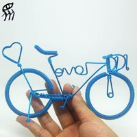 aluminium bikes for kids - New Present For Girlfriend Love Bike Manual Bicycle Model Home Creative Furnishing Articles Aluminium Wire Weave Words Love Hearts